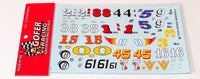 Vintage Modified Racers Car Numbers 1/24 1/25 Gofer Racing 11015