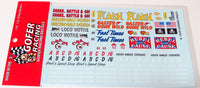 Gasser Crazy Decal Sheet 1/24 1/25 Gofer Racing 11019 - shore-line-hobby