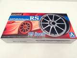 "ADVAN Racing RS 19"" Wheel & Tire Set 4 1/24 Aoshima 53782"