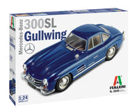 Italeri Mercedes Benz 300SL Gull Wing 1/24 Plastic Model Kit 3645 - Shore Line Hobby