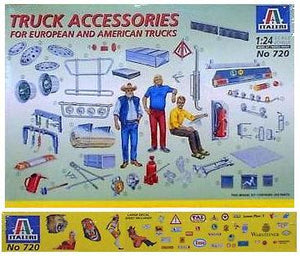 Italeri 1:24 Truck Accessories 720 Plastic Model Kit - US & European Trucks - shore-line-hobby