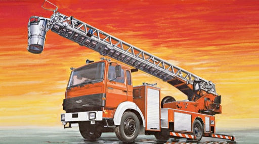 Italeri IVECO-Magirus DLK 23-12 Fire Ladder Truck 3784 1/24 Plastic Model Kit - shore-line-hobby