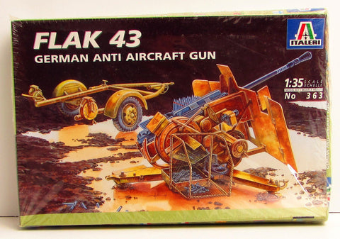 Flak 43 German Anti-Aircraft Gun Italeri #363 1/35 New Military Model Kit
