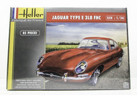 Heller 80709 Jaguar Type E 3L8 FHC New Car Plastic Model Kit 1/24 - shore-line-hobby