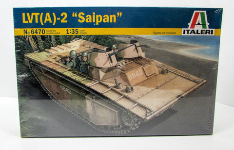 "LVT(A)-2 ""Saipan"" Landing Vehicle Italeri 6470 1/35 New Armor Model Kit"