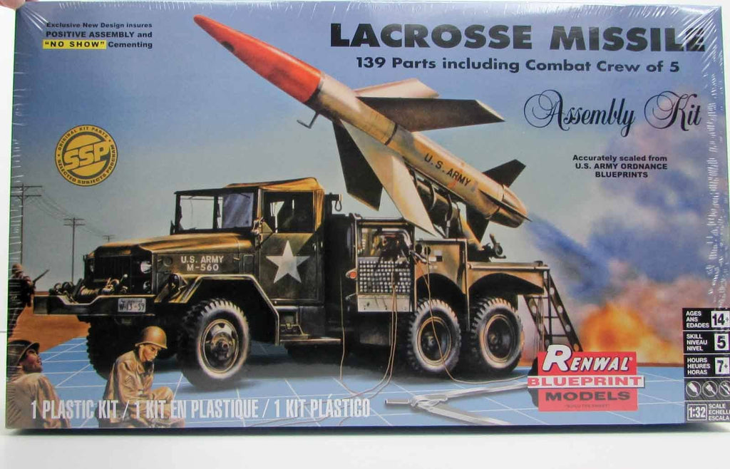 Lacrosse Missile Revell 85-7824 1/32 New Military Plastic Model Kit - Shore Line Hobby