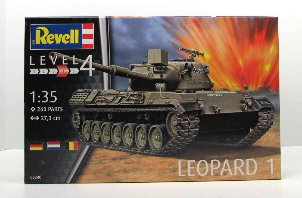 Leopard 1 Tank Revell 03240 1/35 New Armor Model Kit - shore-line-hobby