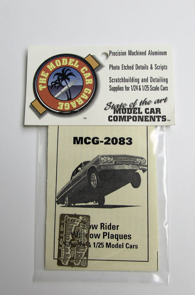 Lowrider Window Plaques Model Car Garage 1/24 1/25 Detail Accessories - Shore Line Hobby