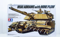 M1A1 Abrams with Mine Plow Tamiya #35158 1/35 New Military Armor Model Kit - Shore Line Hobby