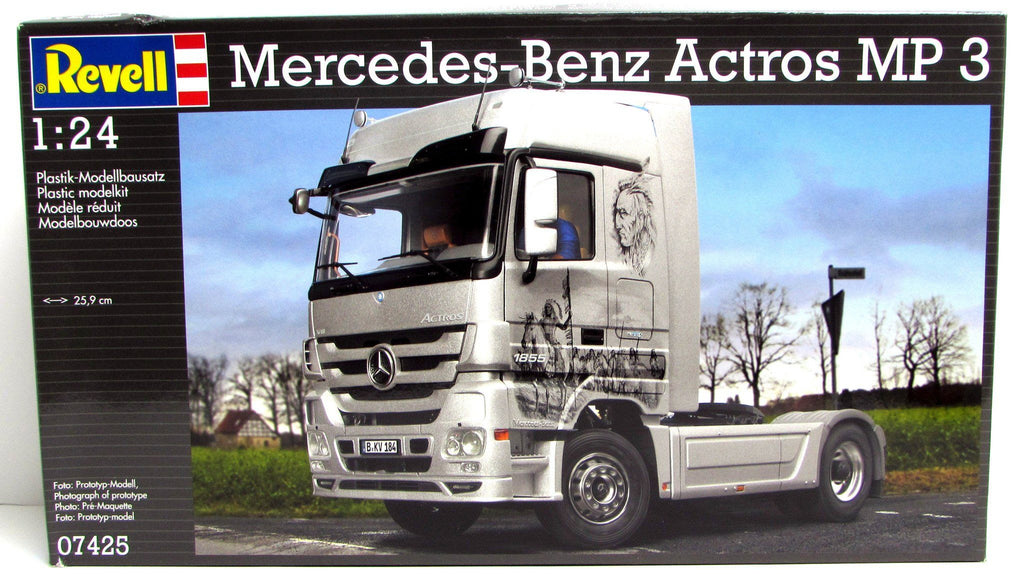 Mercedes-Benz Actros MP 3 Revell #07425 1/24 Scale New Plastic Model Truck Kit - shore-line-hobby