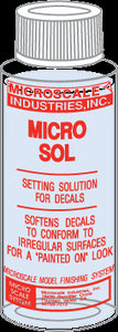 Micro Sol - 1 oz. bottle (Decal Setting Solution) -- Stock# MSI-2 - shore-line-hobby