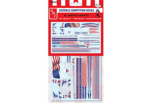 AMT All American Graphics Water Release Decals 1/25 MKA26 - shore-line-hobby