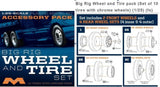 Moebius Models Big Rig Wheel & Tire Set 1/25 #1010 - Shore Line Hobby