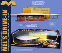 1/87 (HO) American Classic Mel's Drive-In (Assembled) - shore-line-hobby