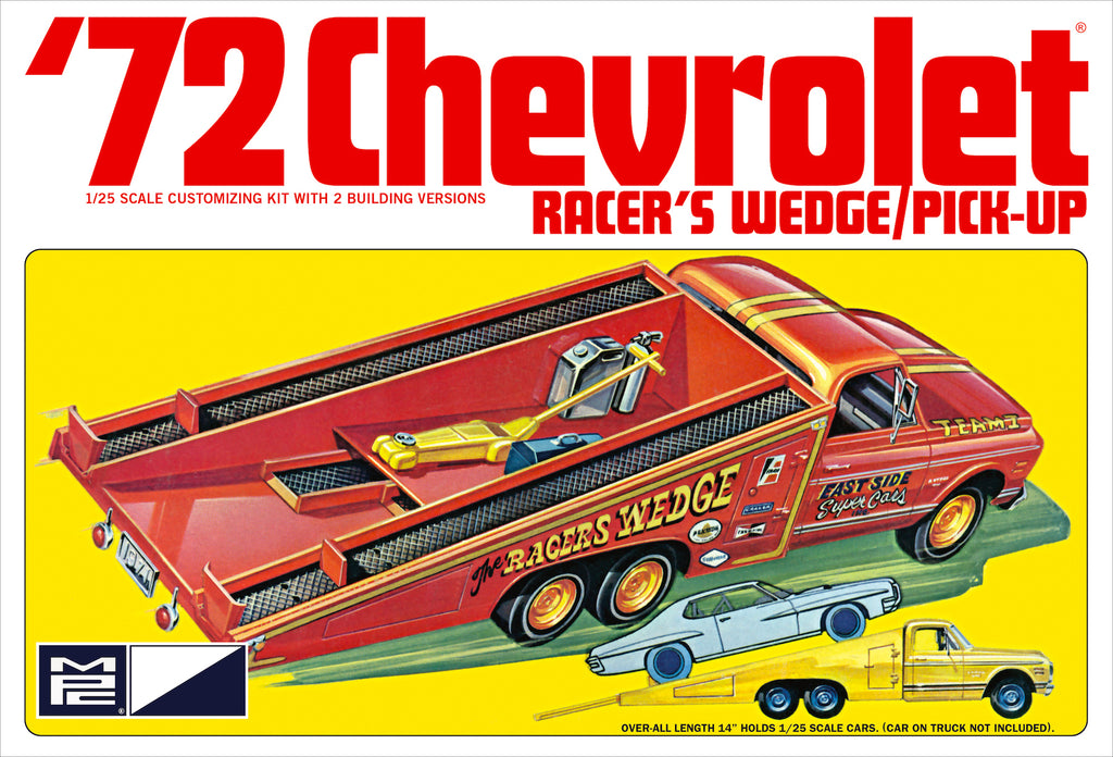 MPC 1972 Chevy Pickup Racer's Wedge 1:25 885 Plastic Model Kit - Shore Line Hobby
