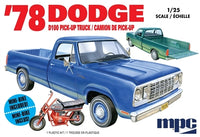 1978 Dodge D100 Custom Pickup with Minibike 1/25 MPC 901 - shore-line-hobby