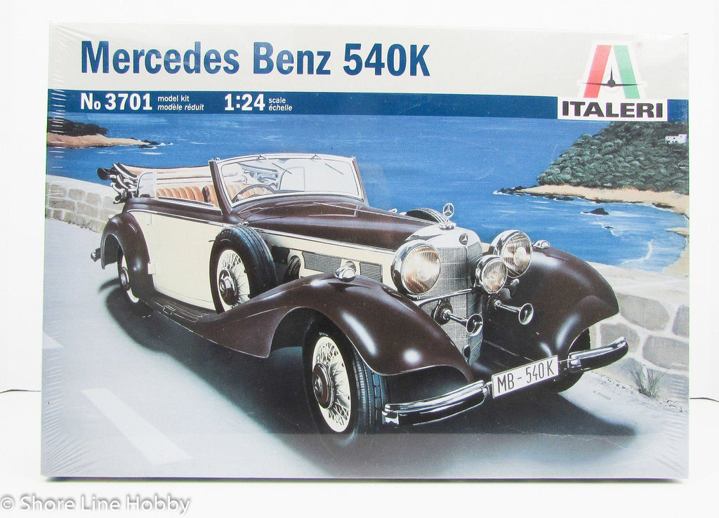 Mercedes-Benz 540K Italeri 3701 1/24 New Car Model Kit - Shore Line Hobby