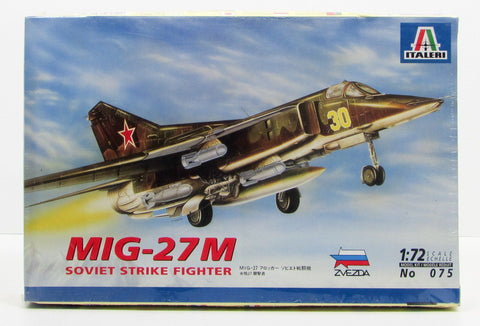 MiG-27M Soviet Strike Fighter Plane Italeri 075 1/72 New Model Airplane Kit