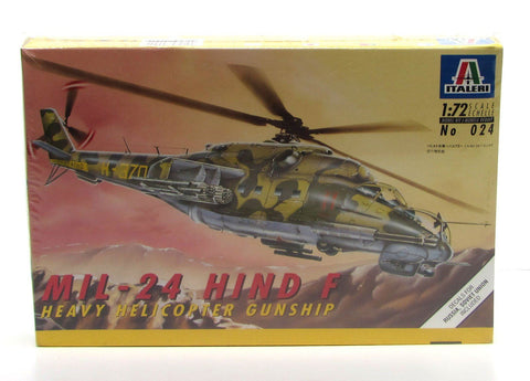 MiL-24 Hind F Gunship Italeri 024 1/72 Helicopter Model Kit