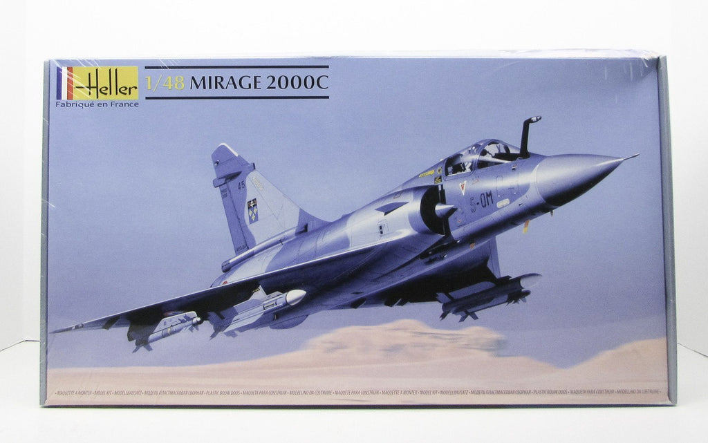 Heller 80426 Mirage 2000C 1/48 New Airplane Model Kit French Fighter - Shore Line Hobby  - 1