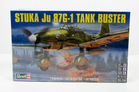 Revell Stuka Ju 87G-1 Tank Buster New Plastic Model Airplane Kit 85-5270 1/48