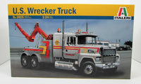 US Wrecker Truck 1/24 New Plastic Model Truck Kit Italeri 3825 - Shore Line Hobby