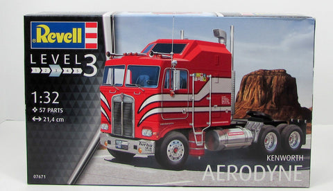Revell 07671 Kenworth Aerodyne Truck New Model Kit 1/32