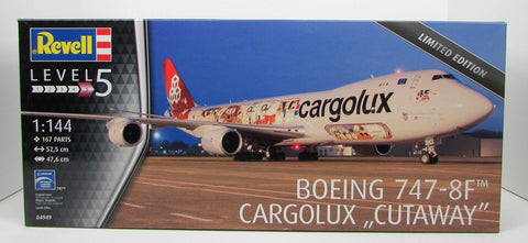 Revell Boeing 747-8F CargoLux Cutaway 1/144 04949 Plastic Model Airplane Kit