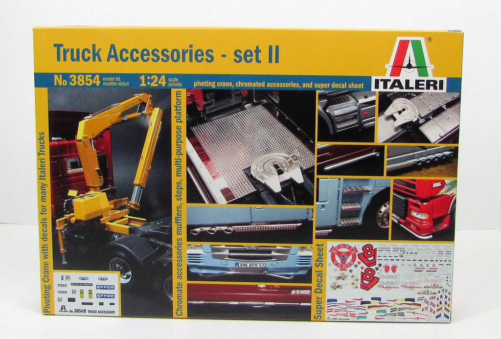 Italeri 3854 Truck Accessories Set 2 1/24 New Truck Parts Model Kit - Shore Line Hobby