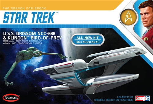 Polar Lights USS Grissom & Klingon Bird-of-Prey 1/1000 Snap Assembly 2 Model Kits - Shore Line Hobby