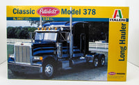 Peterbilt Classic Model 378 Truck Tractor Italeri 3857 1/24 Plastic Model Kit - shore-line-hobby