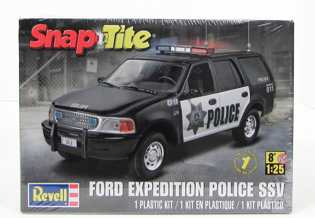 Ford Expedition Police SSV Revell 85-1972 1/25 Snap Kit Truck Model - shore-line-hobby