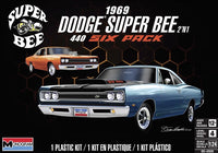 1969 Dodge Super Bee 440 Six Pack (2 'n 1) Stock or Custom (1/24) 85-4505 - Shore Line Hobby