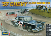 1957 Chevy Black Widow Revell 85-4441 1/25 Plastic Model Kit - shore-line-hobby