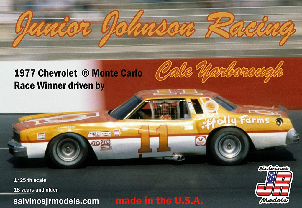Salvinos JR Models Junior Johnson Racing 1977 Chevrolet Monte Carlo Driven by Cale Yarborough - Shore Line Hobby