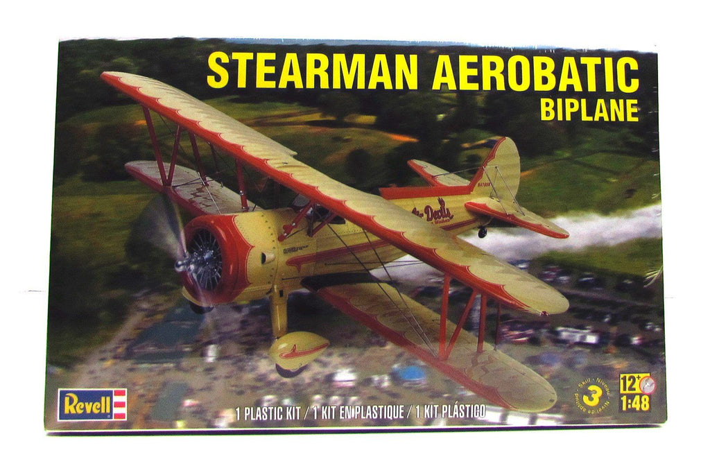 Stearman Aerobatic Biplane Revell 85-5269 1/48 Plastic Airplane Model - Shore Line Hobby