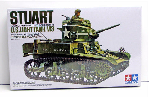 Stuart M3 U.S. Light Tank Tamiya #35042 1/35 New Model Kit