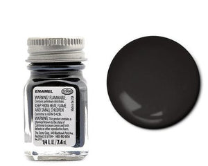Testors 1139 1/4 Oz Semi Gloss Black Enamel Hobby Paint