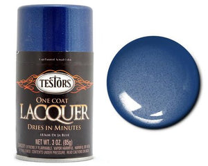Testors 3oz. Spray Paint One Coat Metallic Lacquer De Ja Blue 1836 - shore-line-hobby