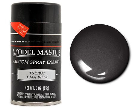 Testors 1947	3oz. Spray Model Master Enamel Gloss Black