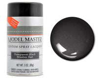 3oz. Spray Testors Model Master Enamel Transparent Black Window Tint 2949 - shore-line-hobby