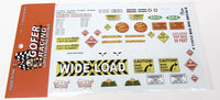 Big Rig Decal Set Gofer Racing Decals 1/24 - 1/25 11012 - Shore Line Hobby
