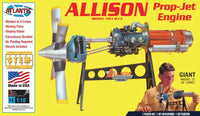 Allison Prop Jet Aircraft Engine STEM Plastic Model Kit 1/10 Atlantis 1551 - Shore Line Hobby