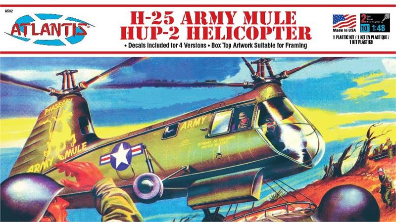 Atlantis 1/48 H25A Army Mule Helicopter (formerly Aurora) 502 - Shore Line Hobby