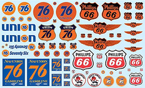 Phillips 66 and Union 76 Trucking Decals for 1/25 Scale Models by AMT MKA032