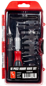 AMT SCM046 - 16 pc Hobby Knife Set