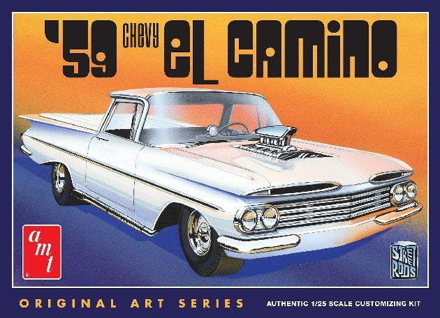 AMT 1959 Chevy El Camino 1058 1/25 Plastic Model Truck Kit