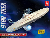 Star Trek USS Enterprise NCC-1701 Refit 1/537 AMT Models 1080 - shore-line-hobby