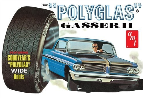 1962 Pontiac Catalina Polyglass Gasser AMT 1092 1/25 Plastic Model Kit - Shore Line Hobby