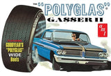 1962 Pontiac Catalina Polyglass Gasser AMT 1092 1/25 Plastic Model Kit - shore-line-hobby